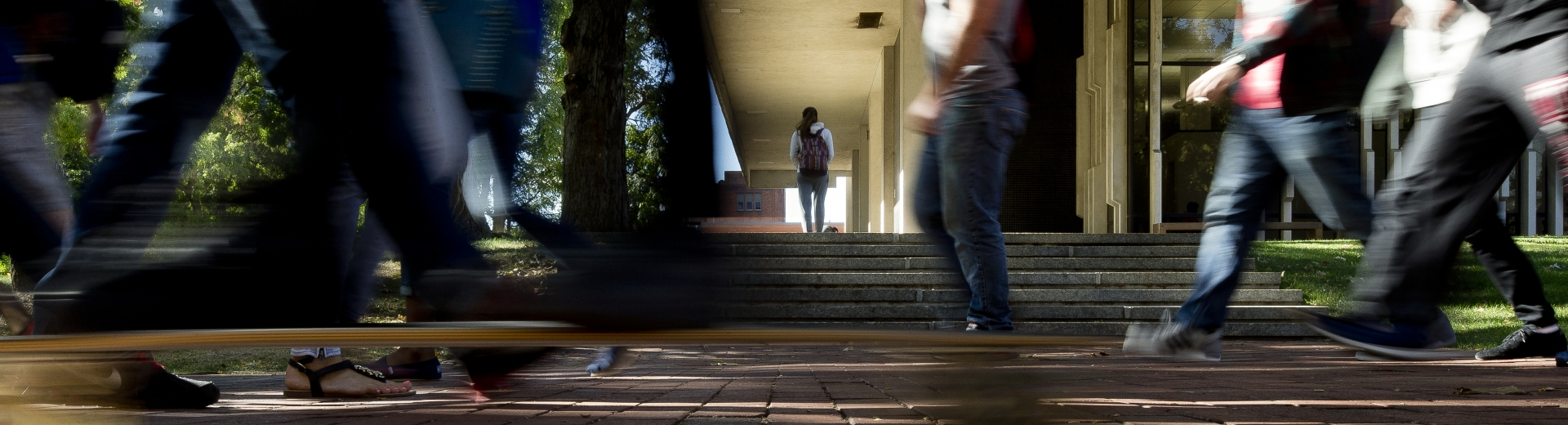 Feet of Students on Campus
