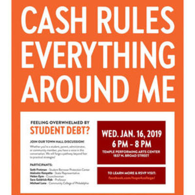 """Philly Town Hall on Student Debt Flyer"""" /></Image>"""