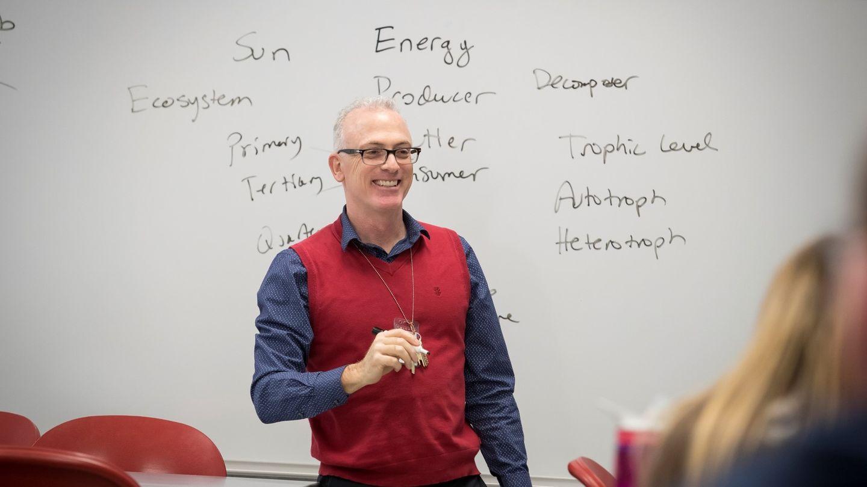 Dr. Doug Lombari in classroom