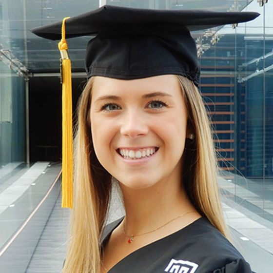 College of Education grad, Juliette Rayser
