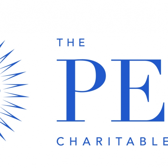 The PEW Charitable Trusts logo is Blue text on white background